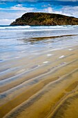 New Zealand, Otago, The Catlins Sand ripples along the rugged Catlins coast of Cannibal Bay