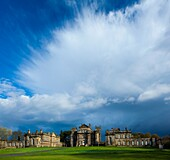 England, Northumberland, Seaton Delaval Hall Dramatic clouds above Seaton Delaval Hall, a property located in the south of the county, and recently purchased by the National Trust