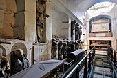 Mummified bodies in Palermo Catacombs Italy