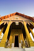 Wat Phra That Chang Kham is the second most important temple in Nan, Thailand, after Wat Phumin