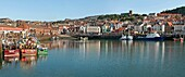 Panoramic images of the Fishing Harbour of Scarborough Scarborough is a town on the North Sea coast of North Yorkshire, England and the largest holiday resort on the Yorkshire coast.