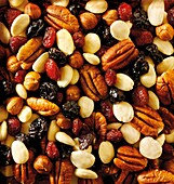 Fruit and nut mix - pecans, almonds, raisons and dried cranberry Food