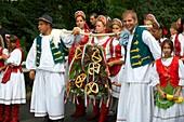 People in traditional Hungarian dress - Annual wine harvest festival szuret fesztival - Badacsony - Balaton - Hungary