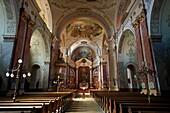 Baroque interior of The Great Church, Hungary Kecskemét