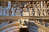 Roman sculptural decorations on The Arch Of Constantine built to celebrate victory over Maxentius Rome Rome