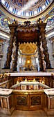 Baroque Canopy baldacchino by Bernini in St Peter's, The Vatican, Rome