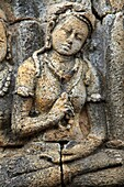 Indonesia, Java, Borobudur Temple, sculpture, stone carving, relief, detail