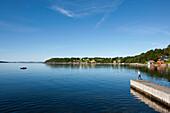 Landing stage at Jorpeland, Rogaland, South of Norway, Scandinavia, Europe