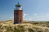 Leuchtturm Rotes Kliff, Kampen, Sylt, Schleswig-Holstein, Deutschland
