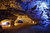 Illumination For the Sound and Light Show in the Caverns of the Foulon Caves, Limestone Geological Site, Chateaudun, Eure-Et-Loir (28), France