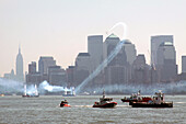 A Plane Doing Aerial Stunts During the Red Bull Air Race in the Port of New York City in July 2010, United States