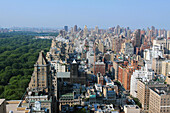 Panoramic View of Central Park and the Upper East Side, Manhattan, New York City, New York State, United States