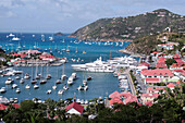 The Marina and Town Center, General View of Gustavia, Saint Barthelemy, French Lesser Antilles, Caribbean
