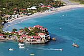 View of Saint Jean Beach and the Luxury Hotel Eden Rock, Relais Et Chateaux, Saint Barthelemy, French Lesser Antilles, Caribbean