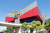 The Suntory Museum, Built By Tadao Ando, Specializes in Graphic Arts, Tempozan Neighborhood, Osaka, Japan