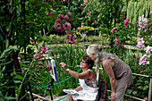 Patricia Dodin's Painting Workshop, Claude Monet's Garden, Eure (27), France