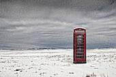Telephone Box in Remote Location, Spalding, Lincs, UK