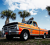 Weathered Orange Truck, Bradenton, Florida, United States