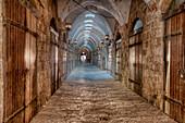 Old Indoor Bazaar Alley, Akko (Acre), Israel