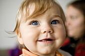 Infant smiling, portrait