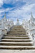 Mingun, Myanmar, steps leading up to Hsinphyumae (Myatheindan) Pagoda
