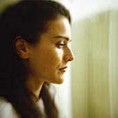 Woman, side view