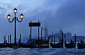 Lantern, Gondolas, Piazzetta, San Giorgio, Venice, Italy