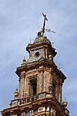 Kirchturm, Carmona, Sevilla, Andalusien, Spanien