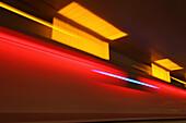 Neon art, Munich air port, Terminal 1, Munich, Bavaria, Germany