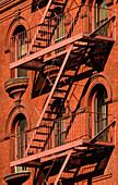 Fire Escape, Tribeca, Manhattan, New York City, New York