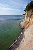 Chalk cliffs at the coast, Ruegen island, Jasmund National Park, Baltic Sea, Mecklenburg-West Pomerania, Germany, Europe