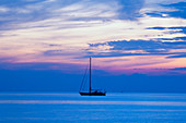 Adriatic, adventure, anchored, boat, clouds, Croatia, dusk, horizon, journey, leisure