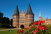 Holsten Gate, Hanseatic City of Luebeck, Schleswig Holstein, Germany