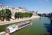 France, Paris, touristic boat on the Seine river