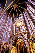 France, Paris, 1st arrondissement, Sainte chapelle, indoors