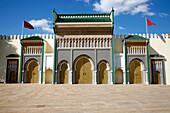 Africa, Maghreb, North africa,Morocco, Fès, Fès jdid, Palais Royal gate