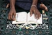 France, Paris, Coran reading