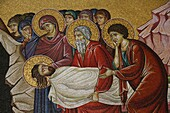 Israël, Jérusalem, Mosaic of Christ's death at the Church of the Holy Sepulchre