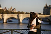 France, Lovers on Paris bridge