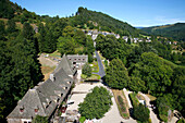 France, Auvergne, Cantal, Tournemire village, view from Anjony castle