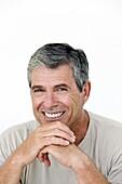 Portrait of a senior man, indoors
