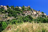 France, Rhone-Alpes, Drome, Montbrun les Bains, general view