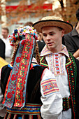 Hungary, Debrecen, Floral Carnival festival folklore people
