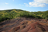 Mauritius, Chamarel, Coloured Earths, geological formations