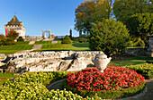 France, Charente-Maritime,. Poitou-Charentes, La Roche-Courbon castle (XVI°-XVII°), garden