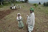 Ethiopie, Ankober, Ankober farmers