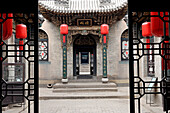 'China, Shanxi, Qiao's Compound (where film ''Raise the Red Lantern'' was shot), pictures of actors'