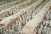 China, Shaanxi, Xian, Terracotta army in Qin Shi Huang mausoleum