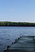 Canada, Quebec Province, Lanaudiere district, Taureau lake, seaplane
