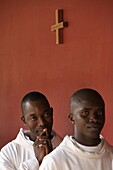 Sénégal, Keur Moussa, Monks at Keur Moussa abbey